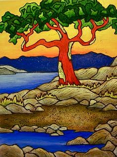 New Arbutus Tree Paintings Arbutus Tree, Mosaic Art, Art Lessons, Quilts, Tree Paintings, Image, Trees, Google Search, Paintings Of Trees