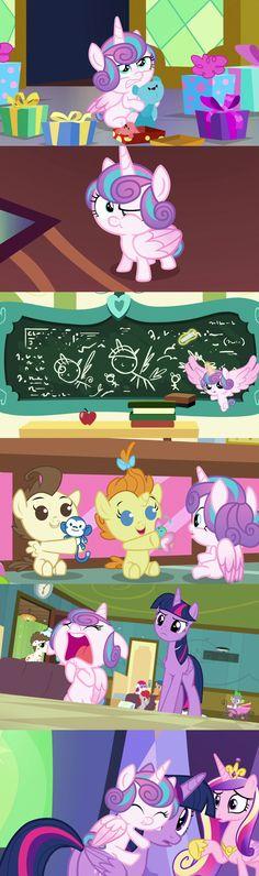 #1450803 - a flurry of emotions, alicorn, bear, edit, edited screencap, nude edit, nudity, pound cake, princess cadance, princess flurry heart, princess twilight, pumpkin cake, safe, screencap, spoiler:s07e03, teddy bear, twilight sparkle - Derpibooru - My Little Pony: Friendship is Magic Imageboard
