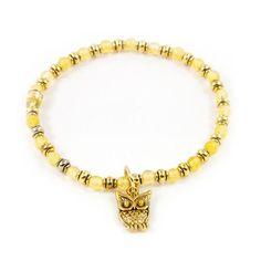 """""""Delicate Owl"""" Yellow Bracelet $11"""