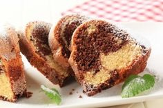 Eggless Marble Cake - swapped butter for dairy free, almond milk for the milk, SR flour, halted the baking powder, also only had soft light brown sugar Eggless Marble Cake Recipe, Marble Cake Recipes, Eggless Baking, Easy Cake Recipes, Baking Recipes, Dessert Recipes, Dessert Food, Bread Recipes, Food Cakes