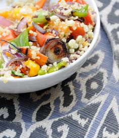 organic quinoa salad with grilled veggies- sounds perfect for summer!