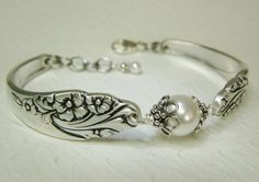 Hey, I found this really awesome Etsy listing at https://www.etsy.com/listing/123146708/silver-spoon-bracelet-evening-star-1950