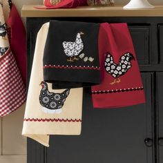 Set of 3 Appliquéd Kitchen Towels from Through the Country Door®