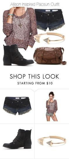 Allison Inspired Pacsun Outfit by veterization on Polyvore featuring Roxy, Bullhead Denim Co., Black Poppy, Kirra and With Love From CA