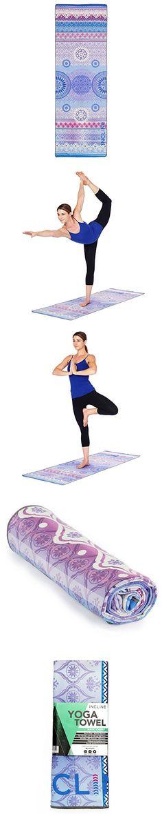 Incline Fit Yoga Towel Skidless Printed Hot Yoga Towel, Magic Carpet