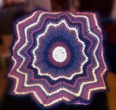 Ripple blanket – here's the pattern Just finished my new blanket. Took me less than a week – yarn I needed arrived on Wednesday and the whole thing was done on Sunday. Pretty quic…