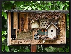 cool 11 Inspirations for Insect Hotels You call it garden art, insects will call it home. These chic bug hotels will offer shelter and even food for beetles, bees, a...