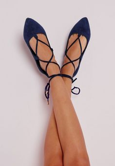 Be fierce this season in these lush lace up flats. With pointed toe finish, standout cobalt blue in a super soft faux suede finish and easily adjustable lace up detail to the front, these are a must have for that perfect casual feel. Wear w...