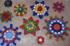 Reciclaje de tapas de botellas de plástico (Rostro de Jesús) - bottle caps - Buscar con Google