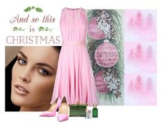"""And So This Is Christmas"" by katiethomas-2 ❤ liked on Polyvore featuring MaxMara, Giuseppe Zanotti, Nina Ricci, Clive Christian, TARA Pearls and Sisley Paris"