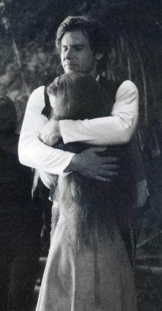 A tender moment between Han and Leia. (Star Wars)