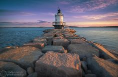 spring point ledge lighthouse south portland me - Google Search