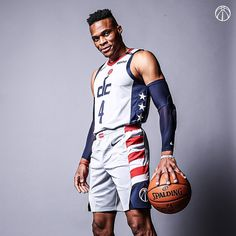 "Washington Wizards on Instagram: ""One more ride in the Stars & Stripes. Swipe for details. 🔥"" Best Nba Players, Washington Wizards, Russell Westbrook, Dress Skirt, Sporty, Stripes, Detail, Stars, Ios"
