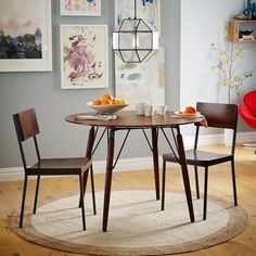Graphica Dining Table - Round (Hazelnut) | west elm