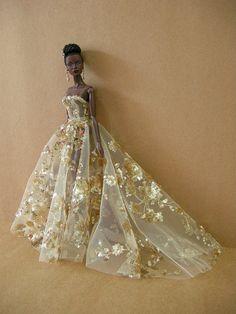gold mine fr fashion royalty fr2 jordan gown outfit dress doll barbie