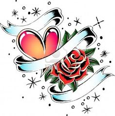 Rose And Ribbon Tattoo Designs photo - 1