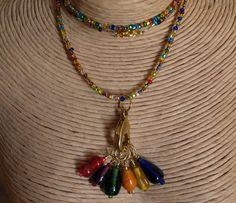 Stitch marker necklace