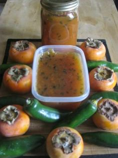 Persimmon and Jalapeno Pepper Jam/Preserve Recipe For dad