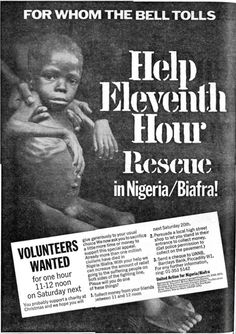 United Action for Biafra / Nigeria. 19 December, 1969. A campaign group comprised of Leonard Cheshire, Winston Churchill, British Red Cross, Christian Aid, Commonwealth Concern, Oxfam, The Salvation Army, Save the Children Fund, Sue Ryder Foundation, War on Want and Unicef UK.
