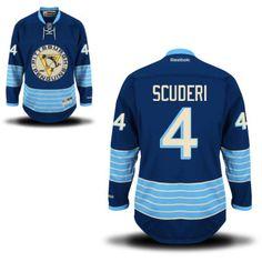 ce1f99decf5 Pittsburgh Penguins 4 Rob Scuderi Third Jersey - Navy Blue [Pittsburgh  Penguins Hockey Jerseys 080