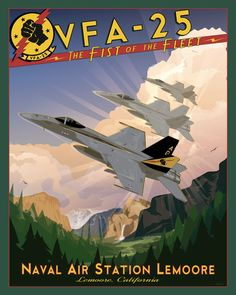Share Squadron Posters for a 10% off coupon! NAS Lemoore VFA-25 - F-18 #http://www.pinterest.com/squadronposters/