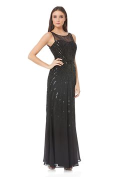 448a83ec9b Beaded full gown by Js COLLECTIONS available at mirellas.ca