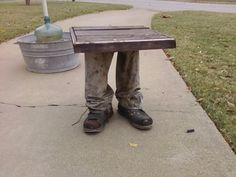 Make your own leg table.  Simple instructions on Halloween Forum.