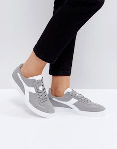 DIADORA B.ORIGINAL SNEAKERS IN GRAY - GRAY. #diadora #shoes #