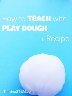 """My kids will use play dough for hours! This is a whole day's worth of preschool """"curriculum"""" and a NON TARTAR recipe."""
