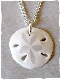 Sand Dollar Pendant Made from Clay....