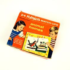 Playskook Animal Homes MatchUps 1964 by AttysSproutVintage on Etsy, $16.00