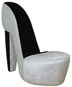 Black Amp Cream Shoe High Heel Stiletto Chair With Re