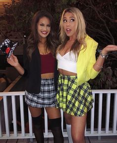 35 Best College Halloween Costumes This Season ~ Fashion & Design 35 besten College-Hallow. Easy College Halloween Costumes, Clueless Halloween Costume, Best Friend Halloween Costumes, Halloween Outfits, Friend Costumes, Cher Clueless Costume, Clueless Outfits, 90s Costume, Halloween Inspo