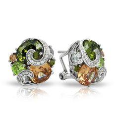 Andromeda Fall Earrings by Belle Etoile.  Silver Earrings. Fashion Jewelry.