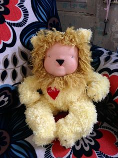 Custom Waldorf inspired baby lion doll