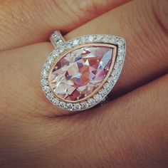 Love this pear shaped ring. Love Ring, Dream Ring, Fashion Jewelry, Women Jewelry, Diamond Are A Girls Best Friend, Or Rose, Bridal Jewelry, Diamond Jewelry, Jewelery