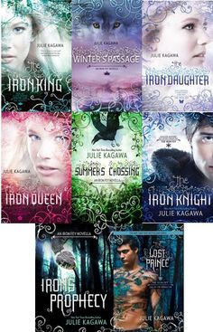 Iron Fey Series by Julie Kagawa, total series so far Ya Books, I Love Books, Book Club Books, Book Lists, Book Series, Good Books, Books To Read, Reading Lists, Iron Fey