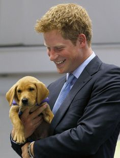 For Amy:  Prince Harry & Puppy. It really doesn't get much cuter that this.
