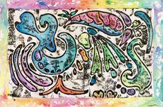 Organic Shapes and Watercolor-Kim & Karen: 2 Soul Sisters (Art Education Blog): Organic Shapes, Watercolor, and Ink=WHAM BAM ART!