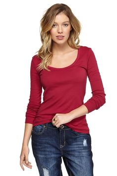the one x one long sleeve POMEGRANATE