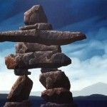 """Inuit Inukshuk Stone people are seen all over Canada. (Previous pinner: """"I always wonder who built each one and wonder how in the world did they get to the places where I have seen them. Niagara Falls Pictures, Inuit People, Building Stone, World's Fair, Garden Crafts, Social Studies, Cool Kids, Expo 67, Canada"""