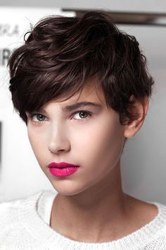 Cute, short hair for a Summer palette.  It works because of the soft, sweeping movement.