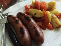 Sausages And Carrots And Parsnips Sautéed In Grass Fed Butter: 5/30/14