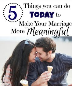 Has running life's marathon left your marriage in the dust? Here are 5 things you can do today to make your marriage more meaningful.