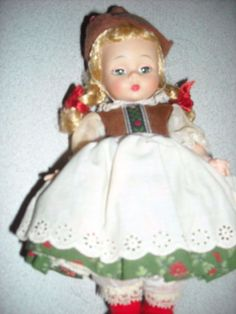 """7"""" vintage madame alexander Alex kins walker plastic sleep eye doll toy Tyroleafor sale in my store The Chic N Prim cottage ebay have to put in the """"the """" in search engine $59 FREE ship"""