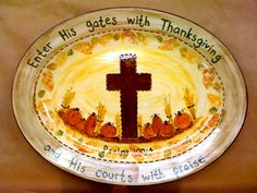 Paint your own pottery: Custom Order - Thanksgiving platter Thanksgiving Verses, Thanksgiving Platter, Thanksgiving Crafts, Fall Crafts, Ceramic Shop, Ceramic Clay, Ceramic Plates, Pottery Painting, Diy Painting
