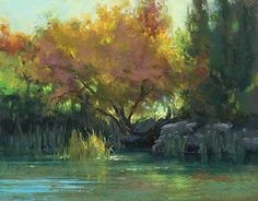 Autumn Pond by Kim Lordier Pastel ~ 11 x 14