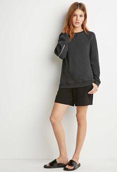 Contemporary Zippered-Back Sweatshirt