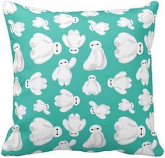 Big Hero 6 Green Baymax Pillow