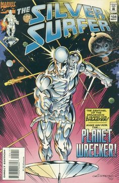 Gotta love comic book covers in the 90s - he really looks silver!